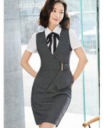 白领职场韩版修身职业装套装(马甲+裙子)LLY-A18-7722
