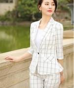 女士职业修身显瘦西装套装132-9837外套8051裤子