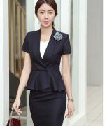 夏季新款职业装女套装时尚气质OL制服正装高端套裙面试工作服114-1320