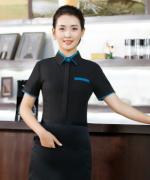 西餐厅饭店火锅店餐饮服装短袖服务员短袖工作服YB-1870女款