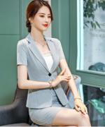 女士商务修身收腰气质优雅显瘦职业装套装82-638+C11+B70