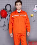 反光条涤棉长袖工作服工装工程服套装137-D010202