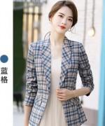 春秋新款设计感小众格子时尚职业女装气质商务工装小西服174-9830