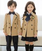 风衣三件套校园风范英伦风中小学生校服168-8848