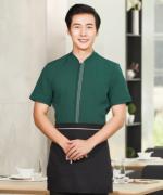 酒店餐厅服务员短袖工作服上衣YLYS-2020-5