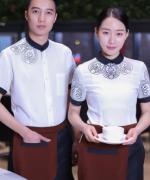 西餐厅饭店火锅店餐饮印花服务员工作服上衣LYDS-8938-8943