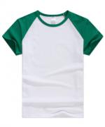 200g莱卡棉插肩圆领短袖T恤男女款GDS-D03成人