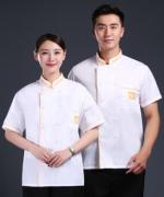 短袖上衣厨师服装透气舒适厨房餐厅工作服中华长城208-L003