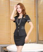 230g健康布酒店客房工作服技师服短袖套裙女款42-2120-1