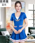 新款女子时尚性感V领百褶裙工作服设计套装182-1229