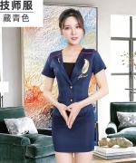 新款女子时尚性感沐足美容院技师职业服套装182-1228