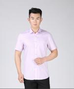 男士西装衬衫修身商务短袖60%棉液氨免烫正装衬衫117-MVC804短袖