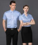 通勤修身商务职业式男女短袖衬衫30-1802