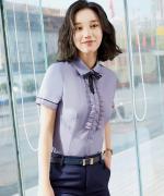 白领职场气质修身韩版短袖衬衫LLY-0322