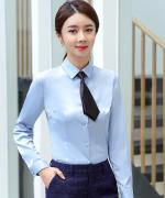 都市白领商务长袖衬衫女职业装正装衬衫114-365