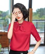 修身通勤夏季女士商务西装衬衫时尚职业气质优雅上衣衬衣113-3527