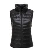 女款潮流时尚拉链立领轻薄背心秋冬款保暖鸭绒马甲ZD-B0108001