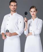 厨师工作服男长袖透气防水酒店餐饮厨师服男款YLYS-19001
