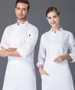 厨师工作服男长袖透气防水酒店餐饮厨房厨师服YLYS-19005