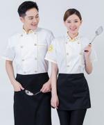 西餐厅中餐厅酒店餐饮厨房后厨厨师长短袖厨师服小元龙 HY-C0201006