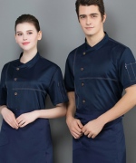 精纺棉椰子扣短袖厨师服上衣LYDS-20F092-096