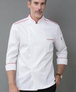 厨师工作服长袖防水酒店餐饮后厨师服YLYS-18187