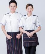 西餐厅中餐厅酒店餐饮厨房后厨厨师长短袖厨师服上衣反光条HY-C0201038