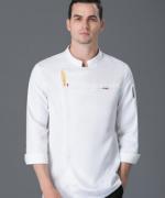 厨师工作服长袖透气防水酒店餐饮厨师服男款YLYS-19021