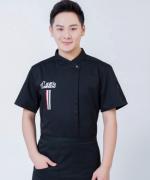 西餐厅中餐厅酒店餐饮厨房后厨厨师长短袖厨师服印名厨HY-C0201011