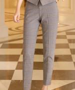 休闲时尚英伦气质女格子西装套装173-9116西装-227马甲-2021西裤