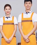 双肩带工作服时尚家用厨房服务员围裙121-298