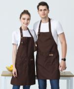 帆布牛仔服务员后厨厨师工作服中餐厅西餐厅围裙HY-8820