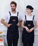 家用厨房饭店超市烘焙美甲奶茶店服务员防污围裙挂肩围裙YLYS-1001