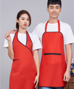 女款工作服时尚家用厨房服务员挂脖围裙121-258