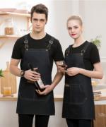 家用厨房饭店超市烘焙美甲奶茶店服务员防污围裙挂肩围裙YLYS-202