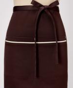 工作服时尚家用厨房服务员半截围裙镶边半截121-E0201006