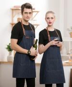 家用厨房饭店超市烘焙美甲奶茶店服务员防污围裙挂脖围裙YLYS-201
