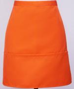 工作服时尚家用厨房服务员半截围裙多口袋半截121-E0201004