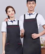 双肩X带工作服女时尚男家用厨房服务员围裙121-188