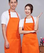 肩带可调工作服女时尚男家用厨房服务员挂脖围裙121-178