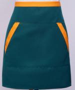 工作服时尚家用厨房服务员半截围裙插袋半截121-E0201001