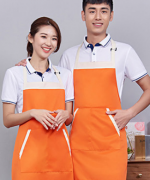 多色可选挂脖可调节工作服女时尚男家用厨房服务员围裙121-118
