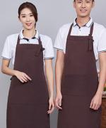 帆布挂脖可调节工作服时尚家用厨房服务员围裙121-988