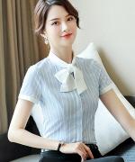 都市白领商务通勤 女士显瘦优雅职业修身衬衫132-6803