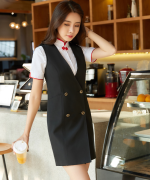 修身收腰气质优雅马甲套装裙马甲+短裙50-903