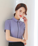 商务修身通勤收腰气质优雅职业装短袖衬衫50-306