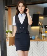 修身收腰气质优雅马甲套装裙马甲+半身裙50-902