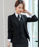 女士气质优雅修身商务通勤职业装背心马甲83-109