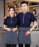 织带短袖服务员上衣87-2021