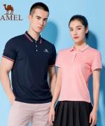 骆驼女士修身显瘦夏季POLO衫T恤男宽松上衣厂家直销